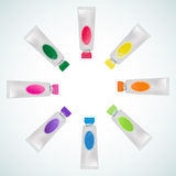 Set of tube paint colorful Stock Photo