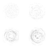 Set of turbulent like circles  on the white background.  Royalty Free Stock Photography