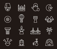 Set of Turkey related icons Stock Photography