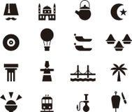 Set of Turkey related web icons Stock Images
