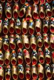 Set of turkish Ottoman leather slipper in bazaar Stock Photos