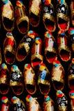 Set of turkish Ottoman leather slipper in bazaar Stock Image