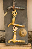 Set of Turkish Ottoman style antique fountain  water tap in view Stock Photo