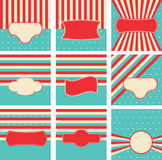 SET turquoise backgrounds Royalty Free Stock Images