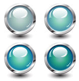Set of turquoise buttons Stock Photo
