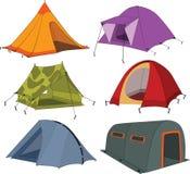 Set turystyczni namioty Zdjęcia Royalty Free