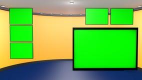 Set TV Chroma key Stock Photography