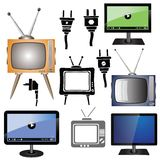 Set of tv Royalty Free Stock Image