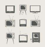 set tv för symbol Fotografering för Bildbyråer