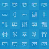 Set of TV icons Stock Images