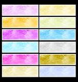 Set of twelve banners Stock Photography
