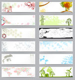 Set of twelve different business cards Royalty Free Stock Photography