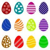 Set of twelve easten eggs Stock Photo