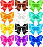 Set of twelve festive bows Stock Photography