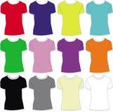 T-shirt set. Set of twelve kind of t-shirt illustrations Royalty Free Stock Photos