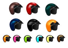 Set of twelve motorcycle helmets, cdr vector Stock Photo