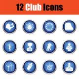 Set of twelve Night club icons. Stock Photography
