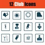 Set of twelve Night club icons Stock Photo