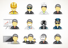 Set of twelve professionals. On white backgrounds Royalty Free Stock Image