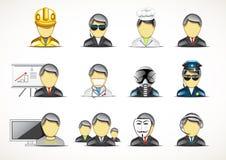 Set of twelve professionals. On white backgrounds Stock Illustration