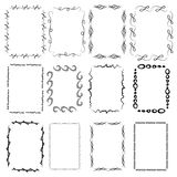 A set of twelve rectangular framework. Manual sketch. Stock Photos
