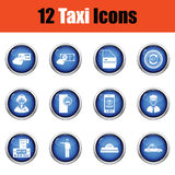 Set of twelve Taxi icons. Stock Image