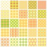 Set of twenty-five seamless texture. Set of twenty five simple seamless texture, illustration vector illustration