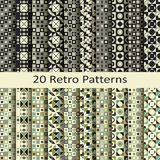Set of twenty retro patterns. Vector set of twenty retro patterns royalty free illustration