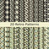 Set of twenty retro patterns Royalty Free Stock Photo
