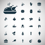 Set of twenty seven food icons Royalty Free Stock Images