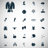 Set of twenty seven sport icons. Universal sports icons set for web and mobile design Stock Photos