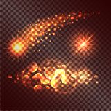 Set of Twinkle Actions on Transparent Background. Concept of twinkle actions on transparent background. Vector illustration of fading star, multiplied circles Royalty Free Stock Photo