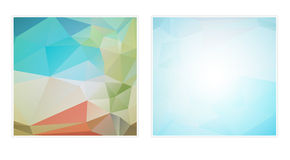 Two abstract polygon backgrounds Stock Photos