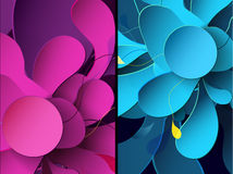 Set of two abstract mobile phone backgrounds Royalty Free Stock Photos