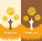 Set of two autumn nature backgrounds Stock Images