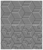 Set of Two B&W Seamless Patterns. Cubic Elements Royalty Free Stock Image