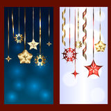 Set of two banners for christmas and new year Stock Image