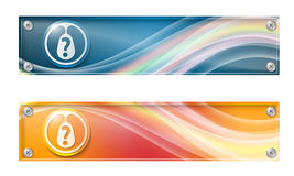Set of two banners Royalty Free Stock Photos