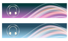 Set of two banners Stock Photography