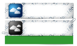 Set of two banners with the texture of the numbers Stock Images