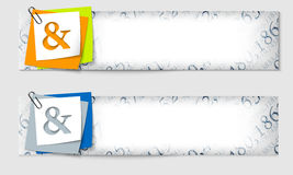 Set of two banners Stock Photo