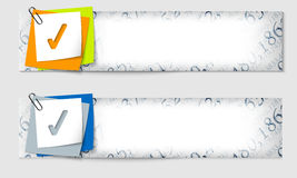 Set of two banners Stock Photos