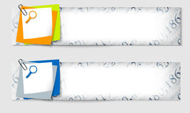 Set of two banners Royalty Free Stock Photo