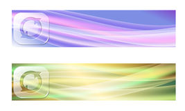 Set of two banners Stock Image