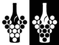 Set of wine symbol Royalty Free Stock Photo
