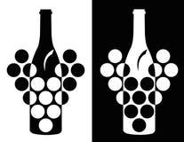 Set of wine symbol Royalty Free Stock Photo