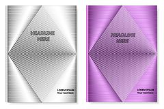 A set of two books with an abstract design of covers and realistic shadows. Templates of books and design of covers are in different layers. Vector Royalty Free Stock Image