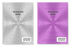A set of two books with an abstract design of covers. Templates of books and design of covers are in different layers. Vector illustration royalty free illustration