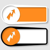 Set of two boxes. For any text with flash stock illustration