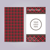 Set of two business cards with scottish pattern. Stock Photography